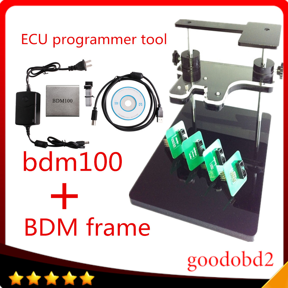 BDM100 ECU Programmer Tool + bdm frame with full adapter support more ecu Fits For FGTECH BDM100 ECU Chip Tuning ToolS ktag kess 3502075 ecu decoder for renault silver