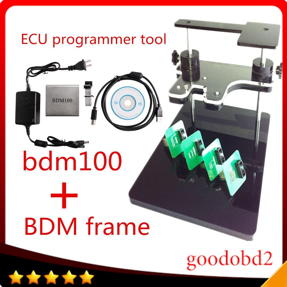 Prix pour BDM100 ECU Programmeur Outil + bdm cadre avec adaptateur complet soutien plus ecu Adapte Pour FGTECH BDM100 ECU Chip Tuning Outils ktag kess