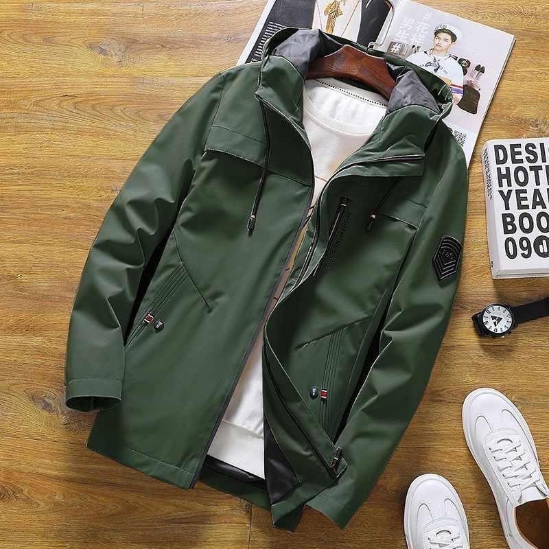 Весенние куртки мужские осенние повседневные куртки с капюшоном однотонные мужские спортивные куртки с капюшоном тонкие куртки мужские куртки-бомберы 4XL