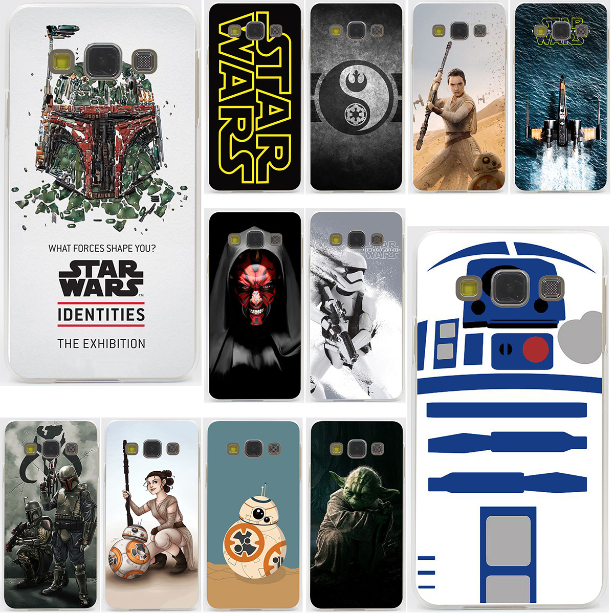 YODA star wars and bb8 Hard for Samsung Galaxy A3 A5 J3 J5 J7 2015 2016 2017 & Grand Prime Note 5 4 3 2 Case Cover