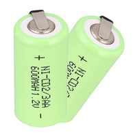 2 ~ 16 Pcs Anmas Power 1,2 V 600 mAh Ni-CD 2/3 AA ni-cd Akku grüne Farbe