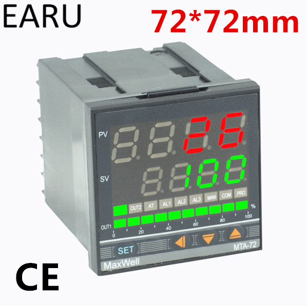72*72mm Digital Temperature Controller Control AC85-265V Power Thermocouple Universial K J PT100 Input SSR Relay 4-20mA Output
