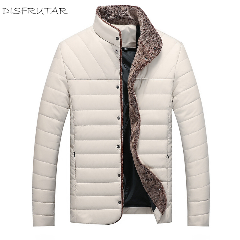 2018 Winter White Duck   Down   Jacket male fleece warm   down     Coat   fashion casual stand collar   down   Parkas men plus size M-5XL