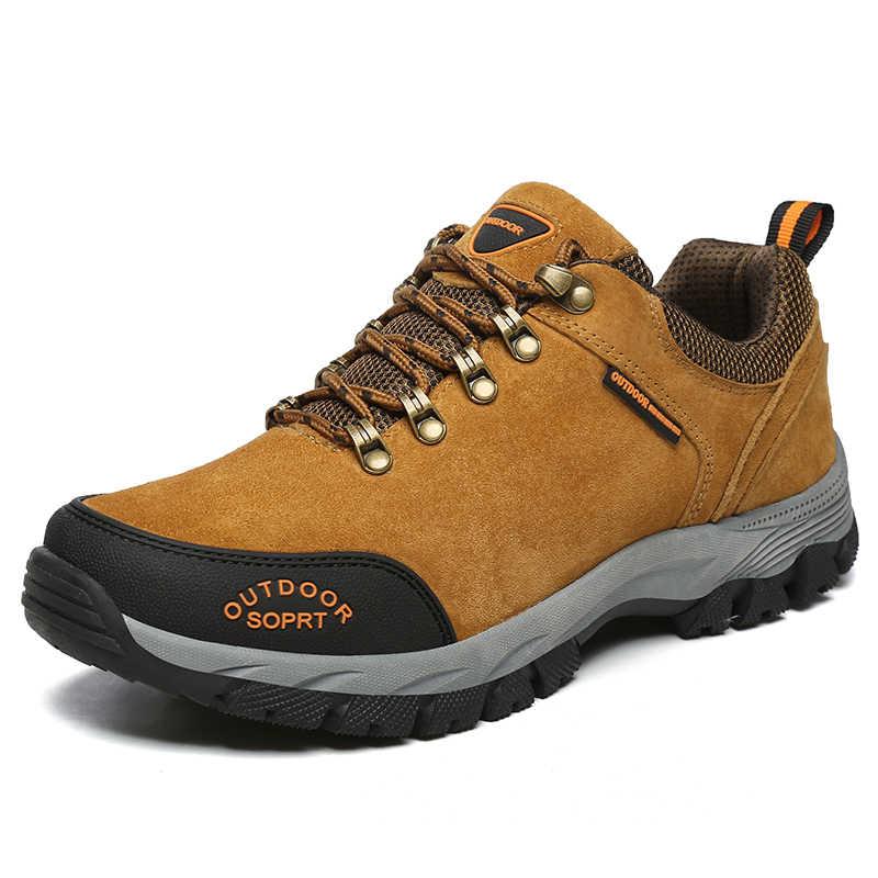 SOCONE открытый большой размер 15 Мужская обувь для походов Зимние Замшевые треккинговые ботинки Приключения Кемпинг мужские спортивные кроссовки противоскользящие