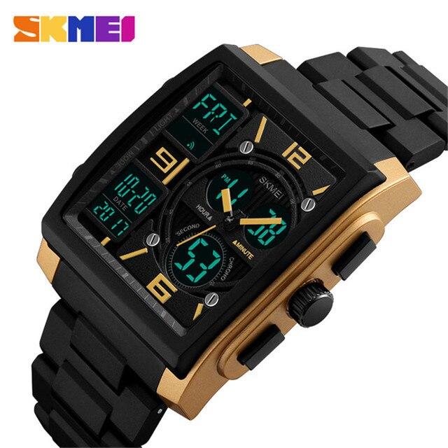 d076206fc99 Moda Homens Relógio Do Esporte Digital Watch Relógio De Pulso À Prova D   Água Cronógrafo