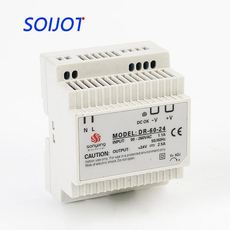цена на DR-60 Din Rail Power Supply 60W 12V 5A,Switching Power Supply AC 110v/220v Transformer To DC 12v,ac dc