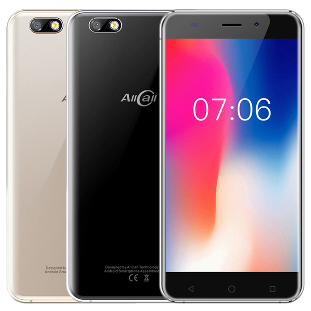 In Stock! Original AllCall Madrid 5.5 Inch HD Dual SIM Android 7.0 MT6580 Quad Core 1GB RAM 8GB ROM 8.0MP 3G WCDMA Mobile Phone