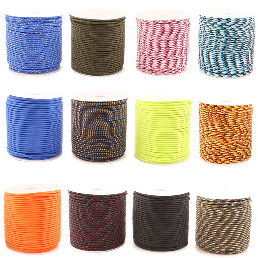 CAMPINGSKY  Reflective Paracord 2mm Paracord 3 Strand Core Outdoor Camping Rope Parachute Cord Lanyard Tent DHL FreeshippingCAMPINGSKY  Reflective Paracord 2mm Paracord 3 Strand Core Outdoor Camping Rope Parachute Cord Lanyard Tent DHL Freeshipping