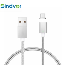 Sindvor Magnetic USB Type C Cable USB 3.1 Type-C Nylon Cable Data Fast Charge USB C Cable for NEXUS 5X 6P Macbook LG G5 Xiaomi 5