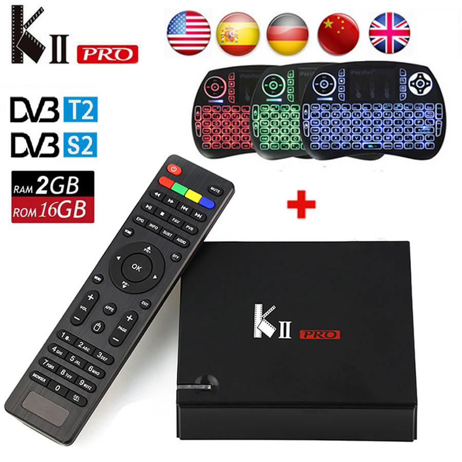 KII PRO DVB S2 T2 Android TV Box 2GB 16GB DVB-T2 DVB-S2 Android 5.1Amlogic S905 Dual WIFI K2 pro 4K Smart TV Box+Keyboard KIIPRO android box iptv stalker middleware ipremuim i9pro stc digital connector support dvb s2 dvb t2 cable isdb t iptv android tv box