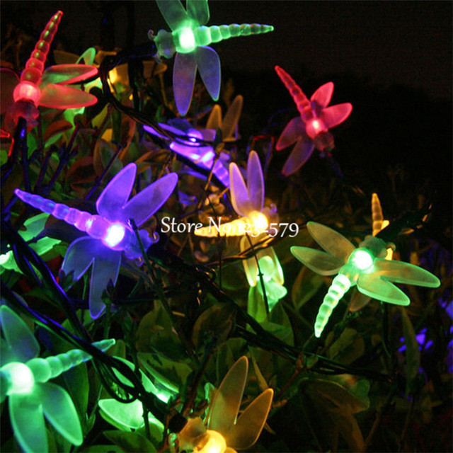 5m 20 Led Solar Ed Lamp Dragonfly Fairy String Lights For Wedding Christmas Party Festival Outdoor