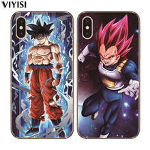For iPhone 8 7 6 6S Plus X 5 5S SE XR XS Max Coque Etui Cover Soft Silicone Luxury Dragon Ball Super Son Goku Cartoon Phone Case