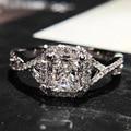 Choucong Ювелирные Изделия Женщины кольцо стерлингового серебра 925 1ct Имитация Алмазный Cz Обручальное Обручальное кольцо Кольца Для Женщин Подарок