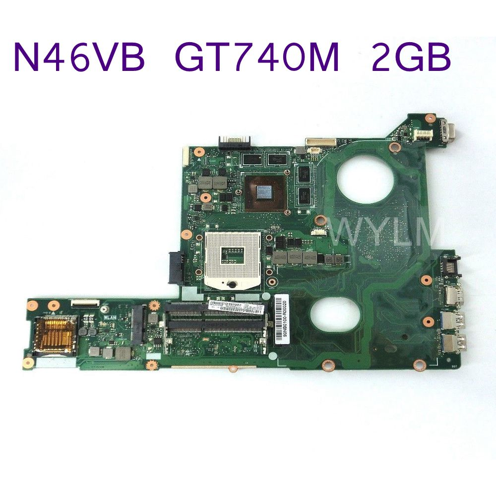 N46VB Mainboard GT740M N14P-GE-OP-A2 2GB Momery For ASUS N46VB N46VZ Laptop motherboard REV 2.3 DDR3 60NB0100-MB2 fully tested цена и фото