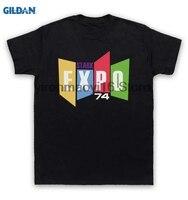 GILDAN Cotton O Neck Printing Fashion T Shirt Iron Man 2 T Shirt Stark Expo