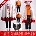 NARUTO Minato Namikaze Hokage 7th Cosplay Costume Halloween Uniform Cloak+Coat+Pants+Hat+Shoes