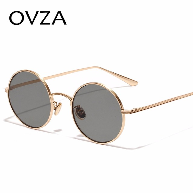 e3359c5cff4 Ovza Fashion Sunglasses for men 2018 Round Vintage Sunglasses for Retro  Sunglass Circle Metal Ultra-light oculos masculino