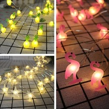 2M Led String Lights Decoration DIY Flamingo Party 10 Unicorn Decor Summer Supplies Wedding Light