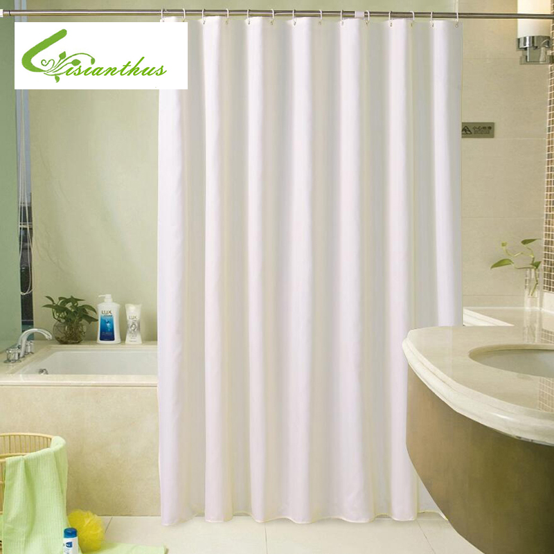 Hotel Quality White Color Polyester Waterproof Fabric Shower Curtain ...