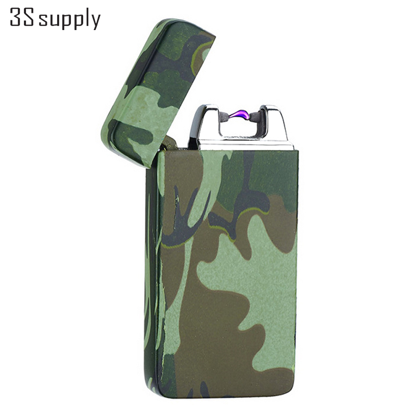 Stylish Marble Shaped Encendedor Metal USB Lighter Windproof Electronic Pulsed Arc Lighter Cigarette Lighters Smoking Gadgets