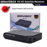 IBRAVEBOX V8 HD DVB-S2 Satelliet TV Ontvanger Decoder Full HD ondersteuning 7 Clines Italië Spanje Arabisch CCCam via USB Wifi antenne
