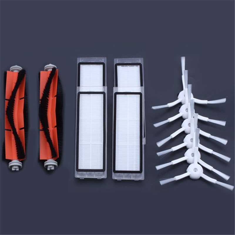 6 x side brush + 4x HEPA filter + 2x main brush Suitable for xiaomi vacuum 2 roborock s50 xiaomi roborock Xiaomi Mi Robot(China)