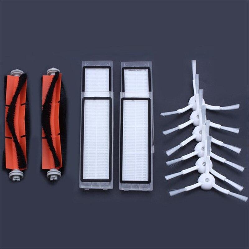6 x escova lateral + filtro HEPA + 2x 4x escova principal Adequado para xiaomi vácuo 2 roborock s50 xiaomi xiaomi mi roborock Robô