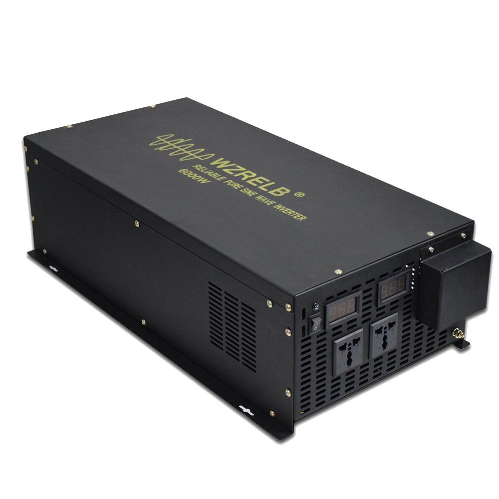 Pure Sine Wave <font><b>Inverter</b></font> <font><b>24V</b></font> to 220V <font><b>6000W</b></font> Solar Power <font><b>Inverter</b></font> Solar System DC to AC Voltage Converter 12V/48V to 120V/230V/240V image
