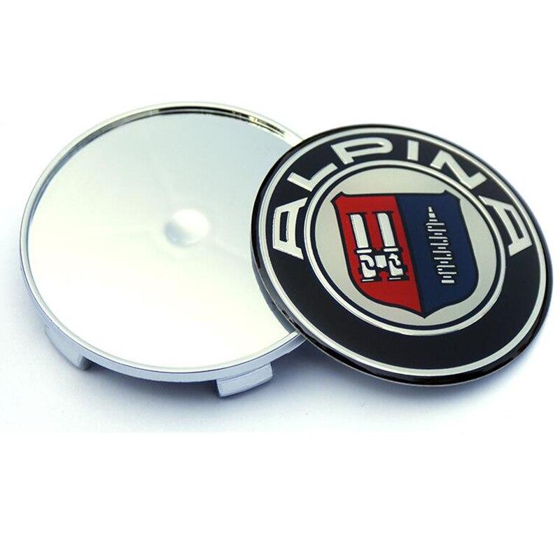 7pcs Car steering wheel stickers Front Hood Emblem Auto Rear Trunk Badge Head Bonnet Boot Logo For Alpina 82MM 74MM 68MM 45MM