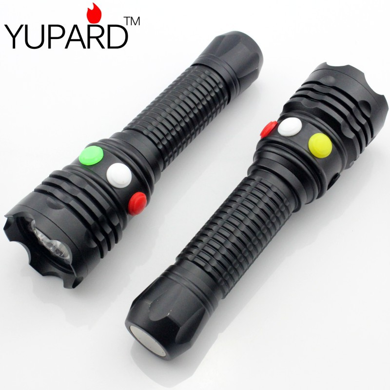 YUPARD Q5 LED signal light  Green Yellow White Red Flashlight LED Torch Bright light signal lamp For 1x18650 or 3 x AAA Battery колонка interstep sbs 150 funny bunny light green