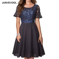 Lace Black Summer Dress Sexy Elegant Dresses Floral Short Sleeve Party Casual Vestidos Wear To A