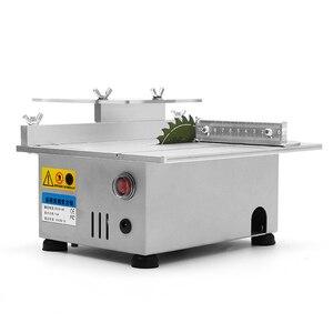 Image 3 - ALLSOME T4 미니 테이블 톱 수제 목공 벤치 선반 전기 폴리 셔 그라인더 DIY 원형 커팅 톱 블레이드