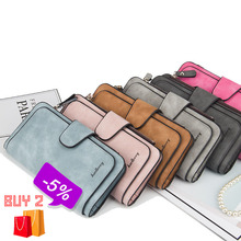 Baellerry Leather Women Wallets Coin Pocket Hasp Card Holder Money Bags Casual Long Ladies Clutch Phone Wallet Women Purse W195 недорого
