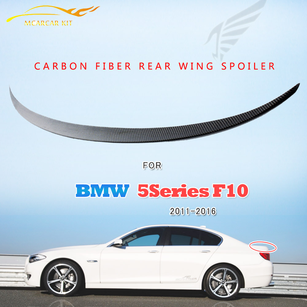 Carbon Fiber Auto Rear Spoiler For BMW 5 Series F10 2011-2016 Trunk Boot Duck Lip Wing Car styling