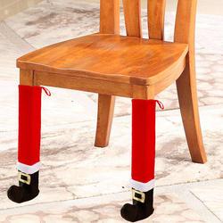 4 шт. Рождественский стул носочки тканевые перчатки защита мебели пола стола покрытия для ног украшения для вечерние ужин Рождество