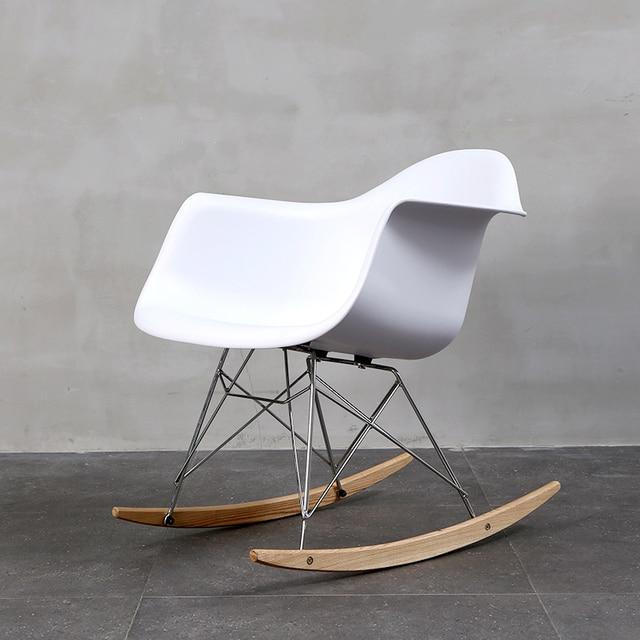 Leisure Living Room Furniture Plastic Creative Fashion Chair Balcony  Minimalist Modern Rocking Chair Multi Optional Chairs