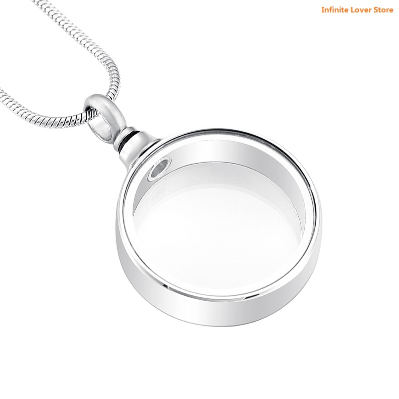 Silver And Black Secret Capsule Cremation Ash Urn Pendant Necklace Stainless Steel Secret Stash Locket Vial Unique Custom Engraved