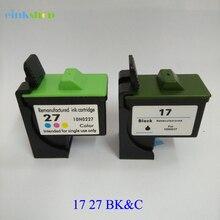 Einkshop Ink Cartridge For Lexmark 17 27 Lexmark17 for i3 X1100 X1150 X1270 X2250 X75 Z13 Z23 Z34 Z515 Z517