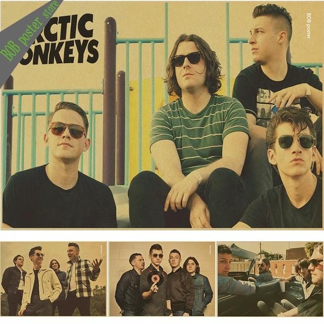 Arctic Monkeys band music punk rock vintage kraft paper poster bar ...