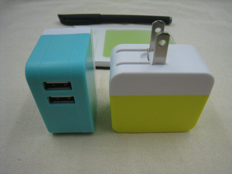 2017 persegi usb charger adapter us plug kupu-kupu 2 usb dinding - Aksesori dan suku cadang ponsel - Foto 5