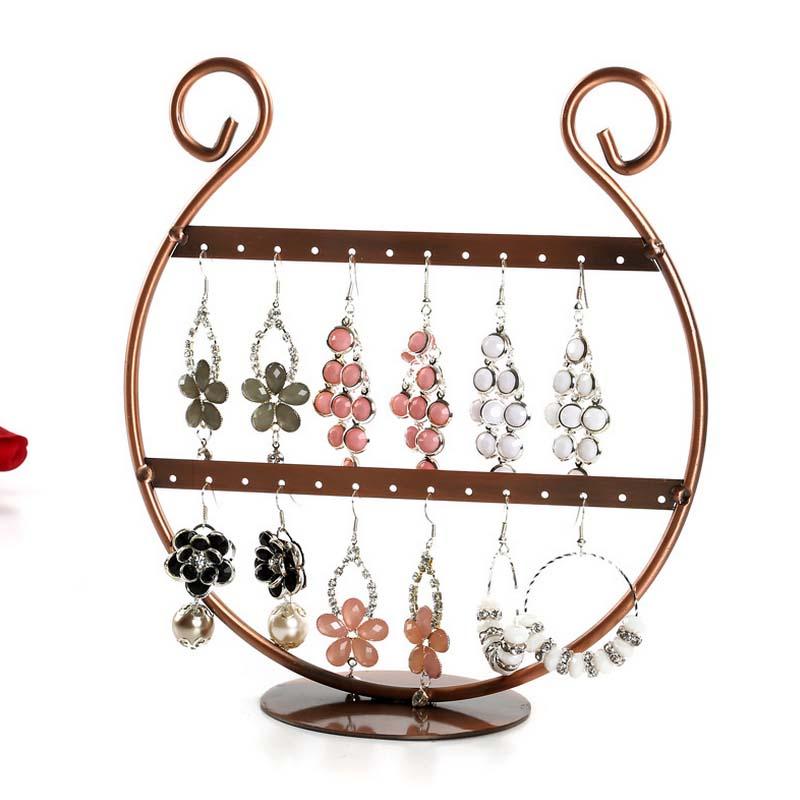Metal Jewelry Display Rack Earring Rack 26 Hole Earring