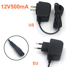 VORED Output DC 12V 500mA AC 100~240V Charger EU/US Plug Swith Power Supply Adapter Converter for shaver/ hair clipper ac 18v 500ma 9w output uk power supply adapter transformer easy installation for video ring doorbell