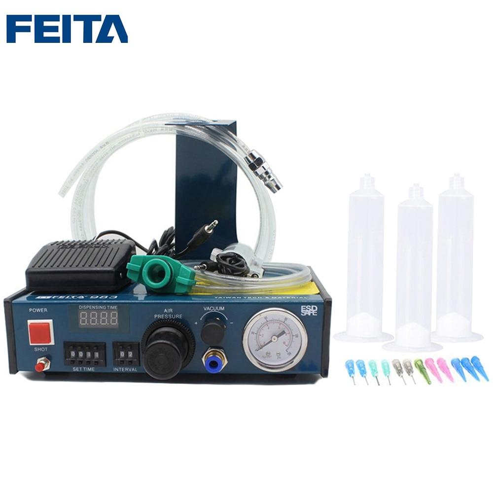 FEITA FT-983 Auto Glue Controlling Dropper Solder Paste Liquid Automatic Syringe Dispensing Machine Industrial DIY Application interface rc3 4 rc1 rc1 1 4 rc1 1 2 rc2 inner wire liquid dust vacuum filter vaf 20 25 32 40 50