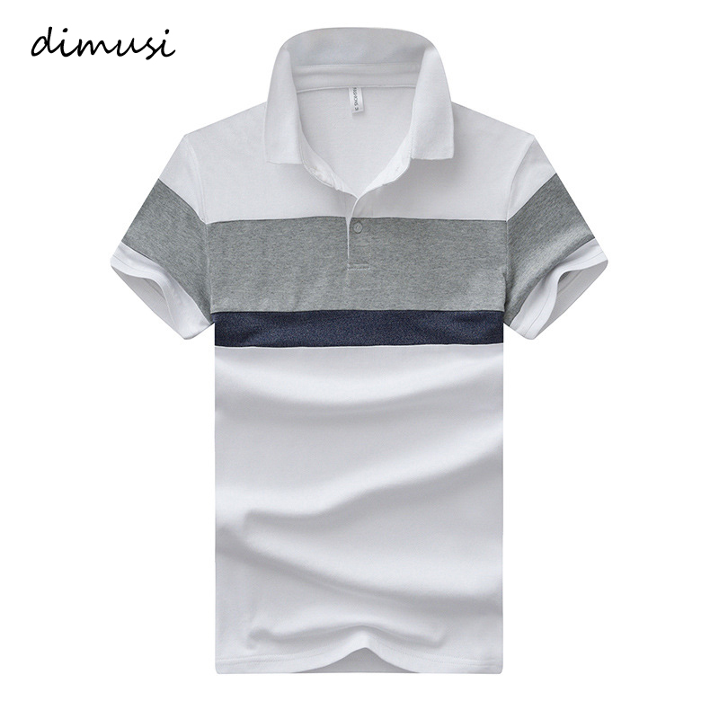 DIMUSI Summer Mens   POLO   Shirt Men Cotton Short Sleeve   Polo   Shirts Male Slim Striped   Polo   Shirt Mens Tops Tees Camisas 4XL,YA814