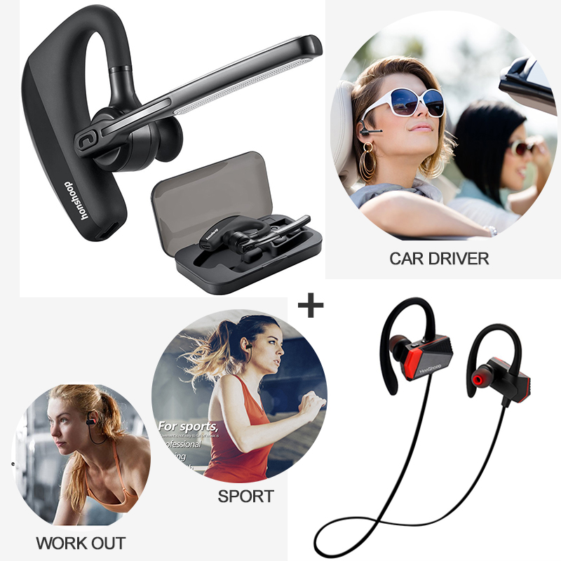 bluetooth Workout Earphones Sport headphones + Bluetooth Headset Car Driver Bluetooth Headphones Compatible with iPhone 10pcs car styling t10 24 led canbus error free 194 w5w 3014 lights 12v side wedge light lamp bulb white led light