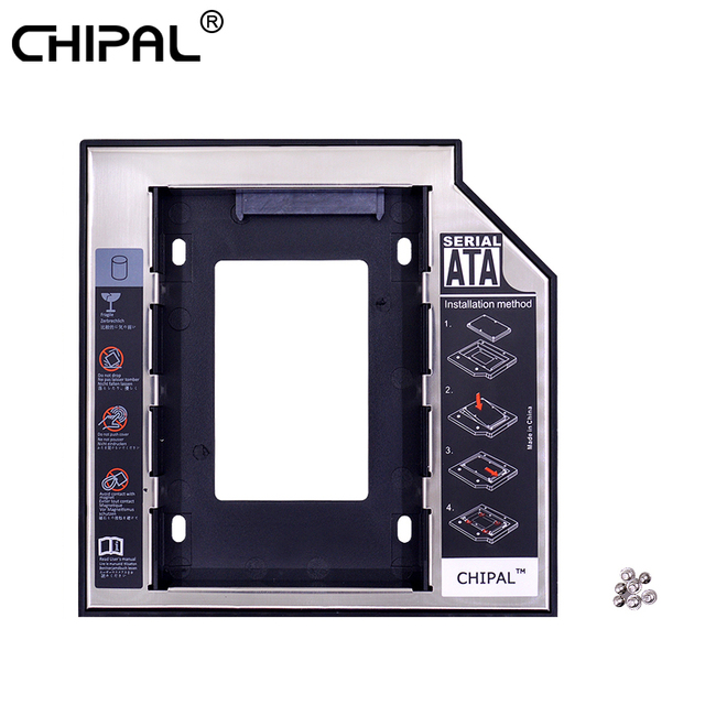 CHIPAL Nhôm Optibay 2nd HDD 12.7mm SATA 3.0 Ổ Đĩa Cứng Hộp Kèm DVD Adapter 2.5 SSD 2TB Cho Laptop CD-ROM