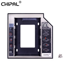 "CHIPAL Universal 2nd HDD Caddy 12,7mm 2,5 ""SATA 3,0 SSD caja de disco duro caja para ordenador portátil DVD CD-ROM de Optibay(China)"