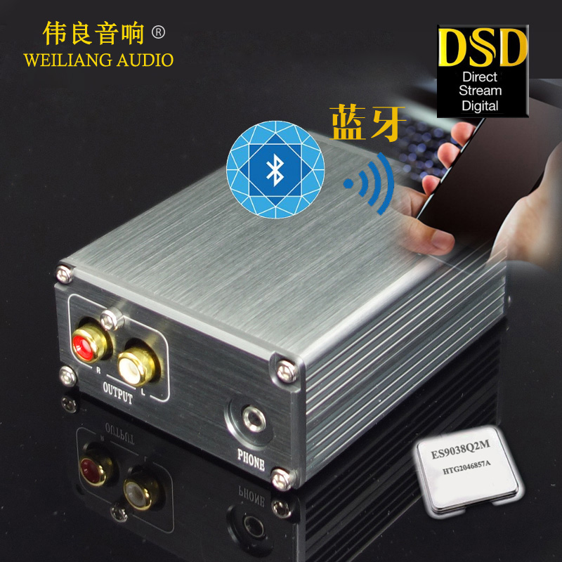 SU2A ES9038Q2M XMOS XU208 Bluetooth 5 0 USB decoder DAC with headset 3 5mm output