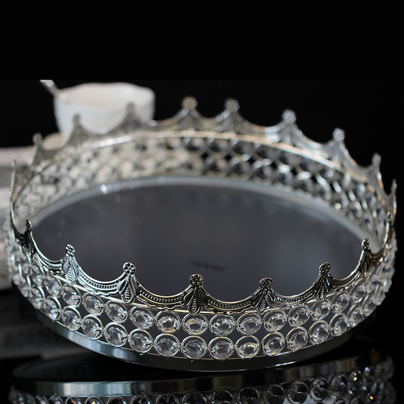 Cristal gâteau disque miroir nouilles verre mode le mariage Dessert plate-forme cuisson papier tasse gâteau Fruits plateau - 5