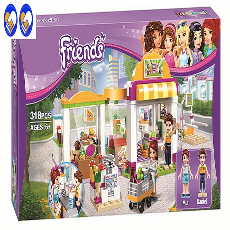 A Toy A Dream BELA 10494 Compatible Lepin Friends Heartlake Supermarket 41118 Building Bricks Emma Mia Toys For Children стоимость